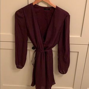 Aritzia long sleeve wrap dress